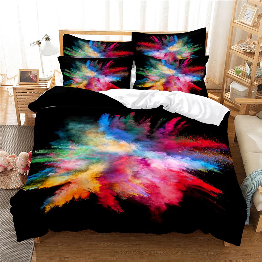 2Pcs/3Pcs Quilt Cover +Pillowcase 3D Digital Printing Dream Series Bedding Set Queen