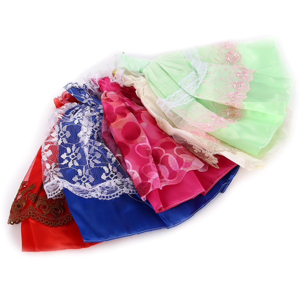 [EU Direct] doll Party Costume Clothing Ballet Skirt Cake Dress 5pcs