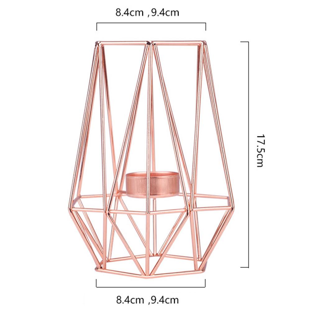 Geometric Metal Candlestick for Wedding Home Decor