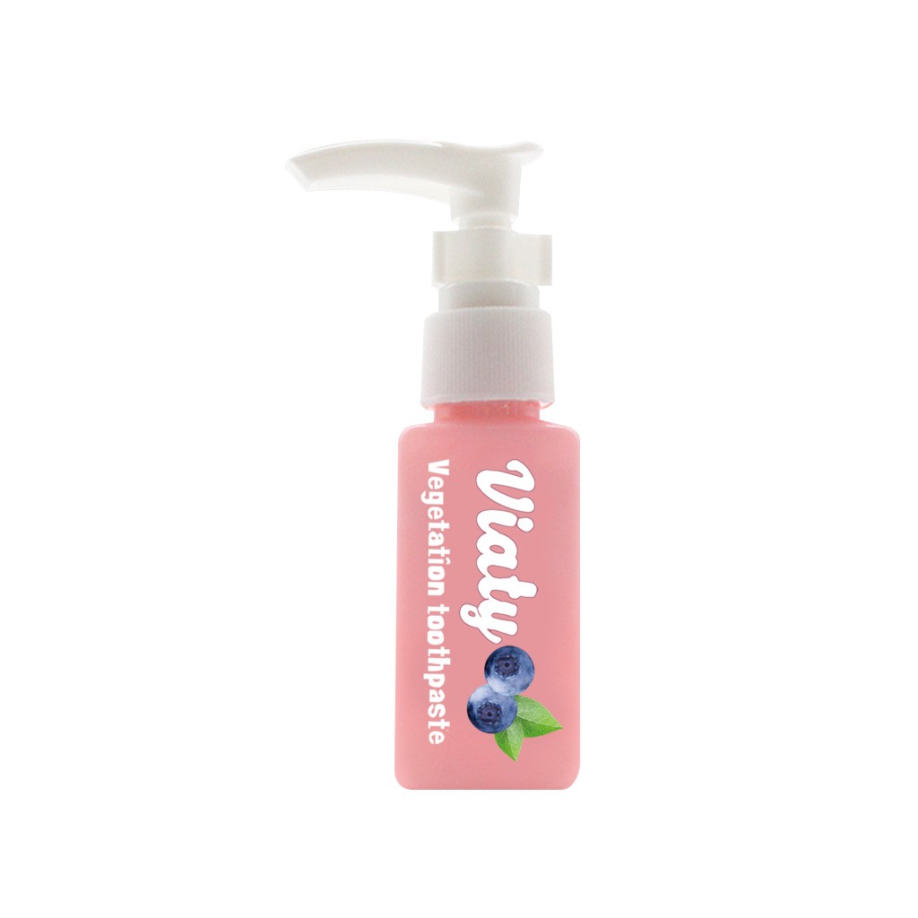 Soda  Hand  Push  Type  Toothpaste Bottled Tooth Whitening Health Beauty Tools Toothpaste Blueberry 30ml