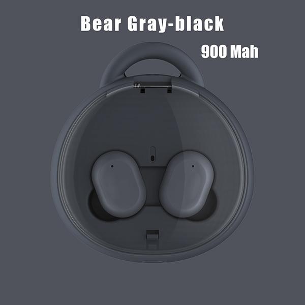i10 TWS Earphone Wireless Bluetooth5.0 Headset HD Stereo Noise Reduction Earbuds Fingerprint Touch Hands-free Headphones  Black