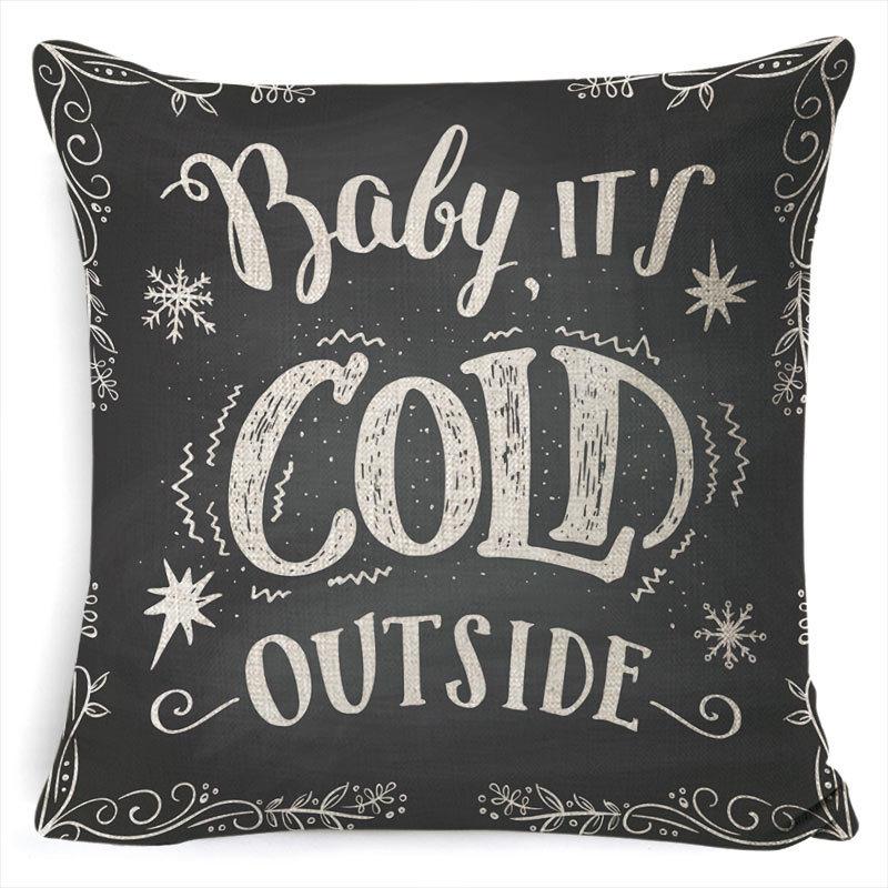 New Christmas Pillowcase Pillow Cover Cushion Cover Home Nordic Style Linen Pillow Case A5_45*45cm pillowcase