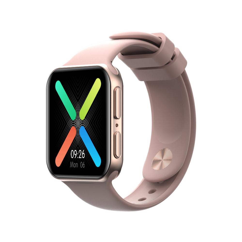 Smart  Watch Ip68 Waterproof 1.4 Inch Health Monitor Temperature Sports Fitness Tracker Smartwatch blue