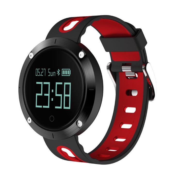 Heart Rate Blood Pressure Bracelet Waterproof Information Massage Reminder Bluetooth Smart Bracelet red