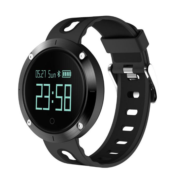 Heart Rate Blood Pressure Bracelet Waterproof Information Massage Reminder Bluetooth Smart Bracelet black