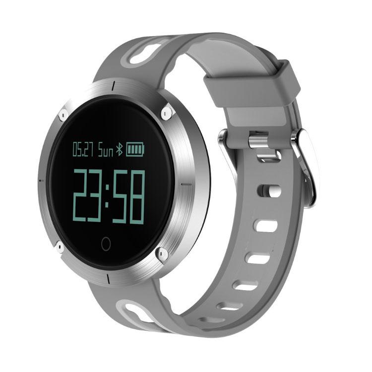 Heart Rate Blood Pressure Bracelet Waterproof Information Massage Reminder Bluetooth Smart Bracelet Silver