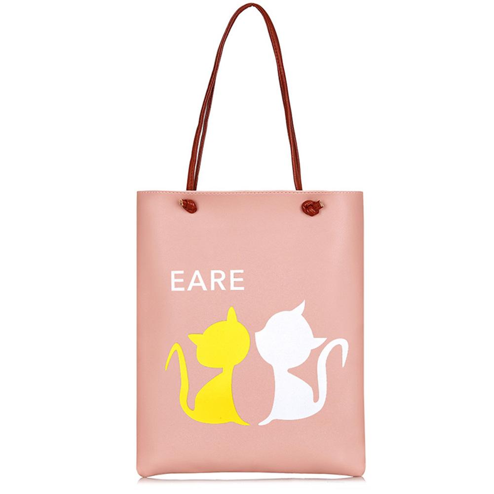 Women Cute Cartoon Pattern Single Shoulder Bag Portable Casual Hand Bag