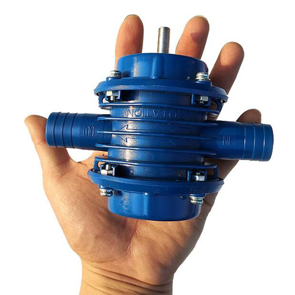 Small Hand Drill Powered Suction Pump Cocurrent Self-priming Centrifugal Pump for Home Supplies l blue