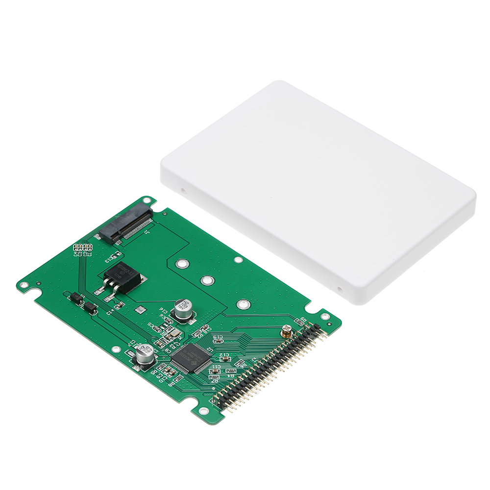 M.2 NGFF SATA SSD to 2.5 IDE 44pin Converter Adapter with Case Black / White Color SATAIII Connector SDD Converter Card Adapter white