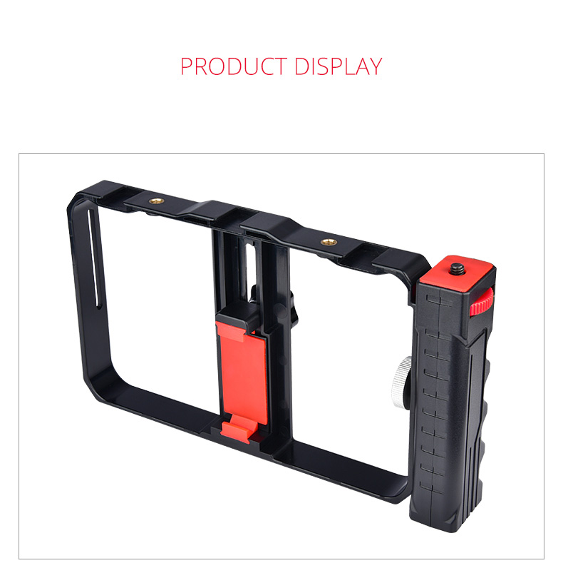 Hand Held Camera Bracket Second Generation Movie Live Video Stabilizer Mobile Phone Rabbit Cage Stand black