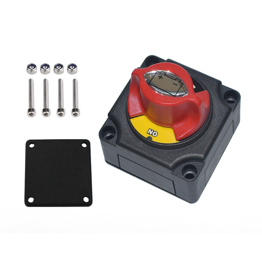 Auto Battery Power Off Switch Battery Disconnect Cut On/Off Rotary Switch Boat RV ATV Marine Boat 12V24V Switch black