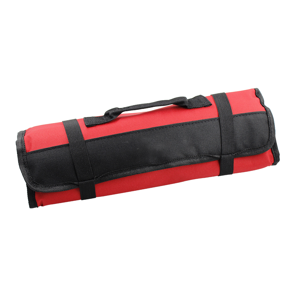 Car Tools Roll Up Tool Roll Pouch Bag Organizer Multi-function 600d Oxford Cloth Pouch red
