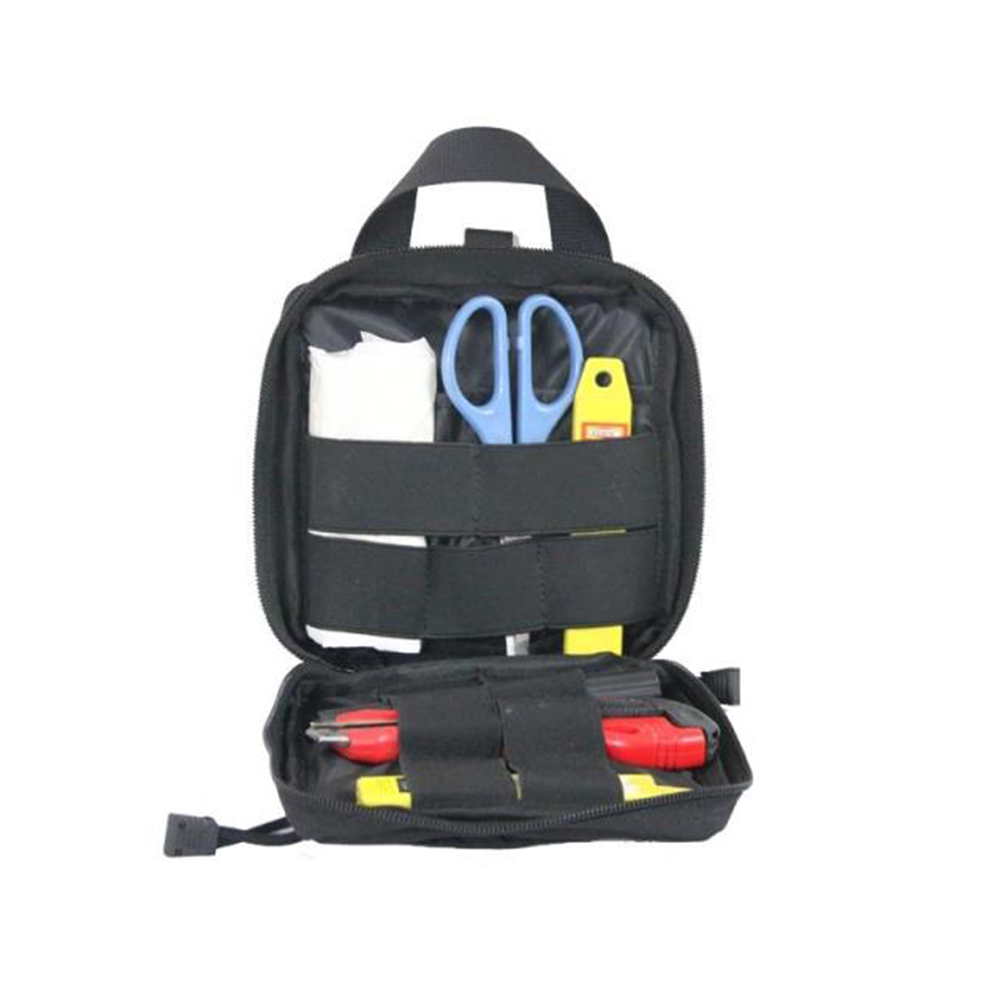 Wear-resistant Nylon Medical First Aid Pouch Medic Outdoor Tool Hand Bag  black_One size