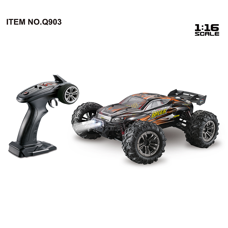 1:16 Brushless Four-wheel Drive High Speed RC Car Toy Orange_1:16