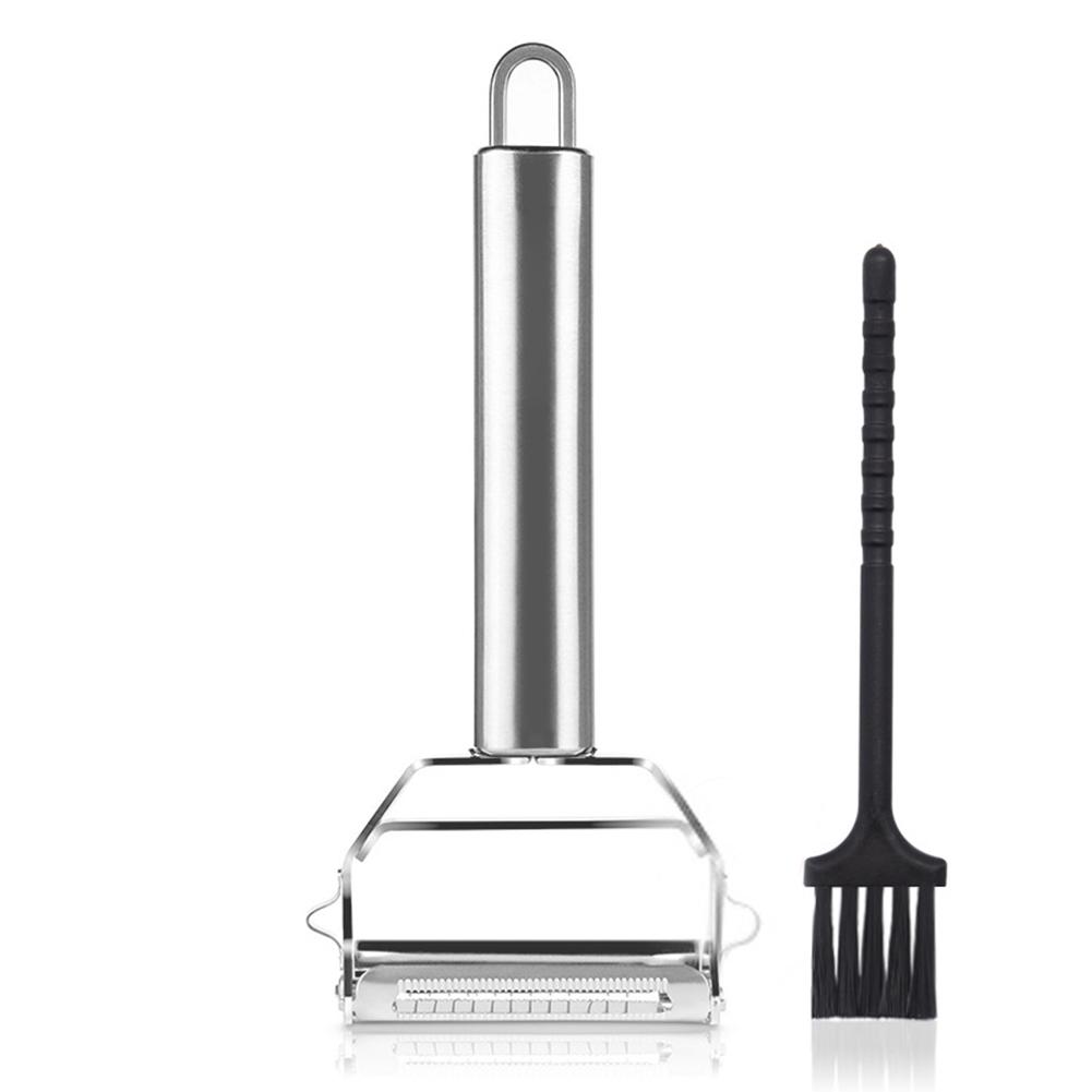 Multifunction Dual Fruit Vegetable Peeler Stainless Steel Potato Carrot Grater Planing Kitchen Tool As shown