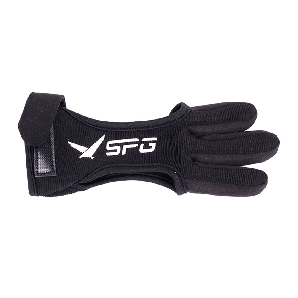 3 Finger Gloves Leather Guard Safety Archery Gloves Curved Bow Cowhide Protective Gloves for Archery L