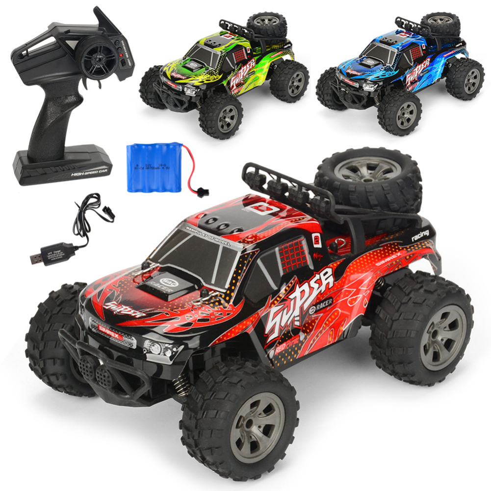 Remote controlled car Remote control furious 1:18 Scale RC Car 4D Off Road Vehicle 2.4G 20km/h Radio Remote Control Car red