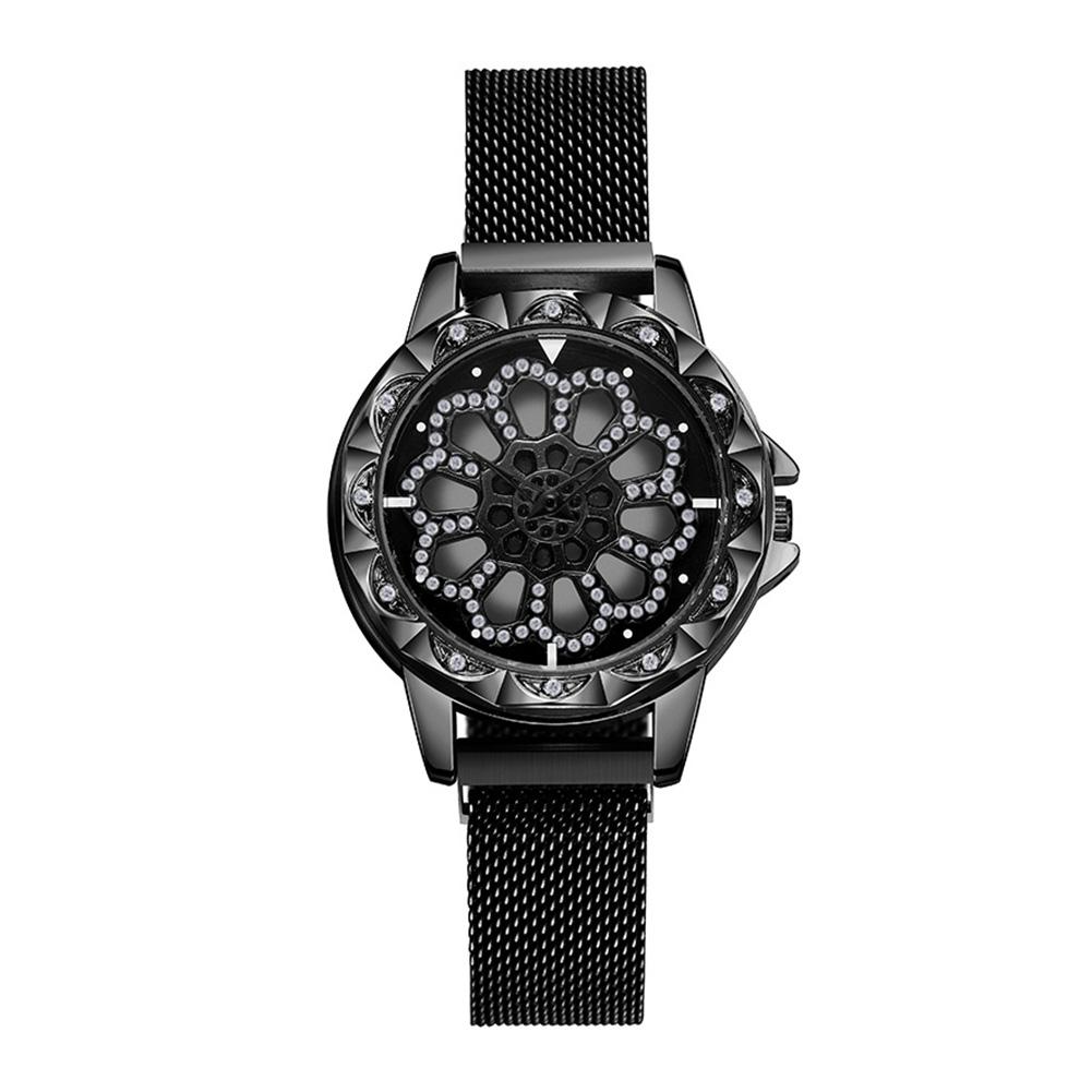 Explosive models come to run ladies magnet buckle Milan with quartz wrist watch female models black