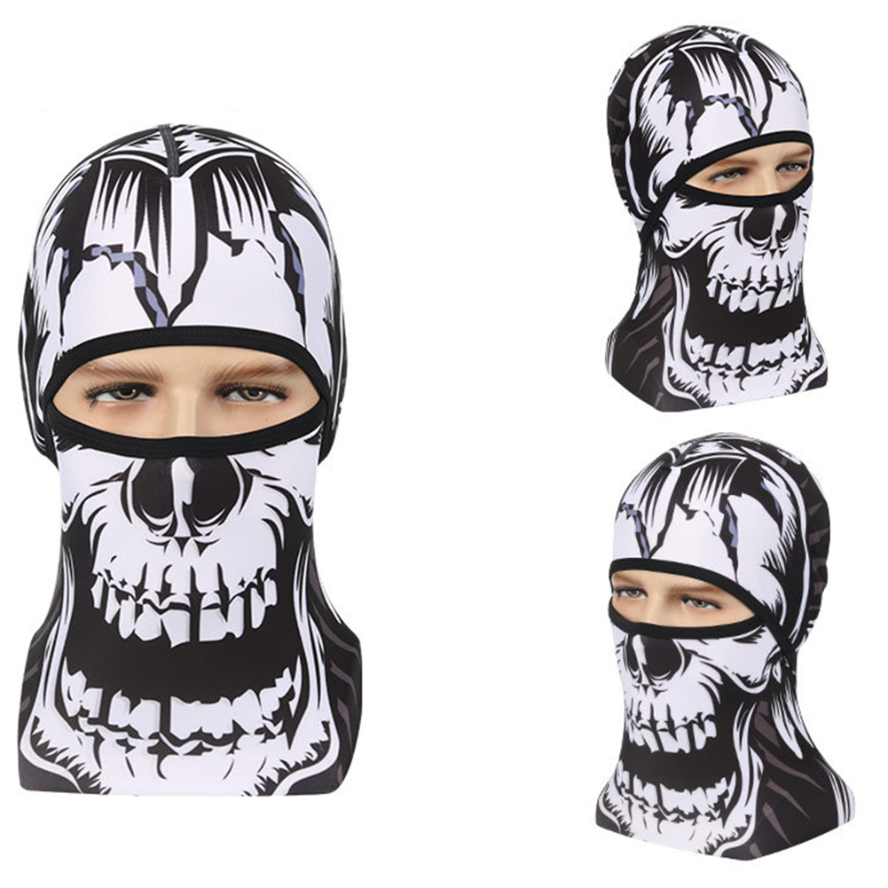 Skull Head Magic Turban Outdoor Sports Cycling Mountaineering Ski Headscarf Warm Breathable Mask 1#_One size