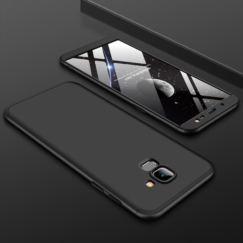 For Samsung J6 2018/on 6 Ultra Slim 360 Degree Non-slip Shockproof Full Protective Case black