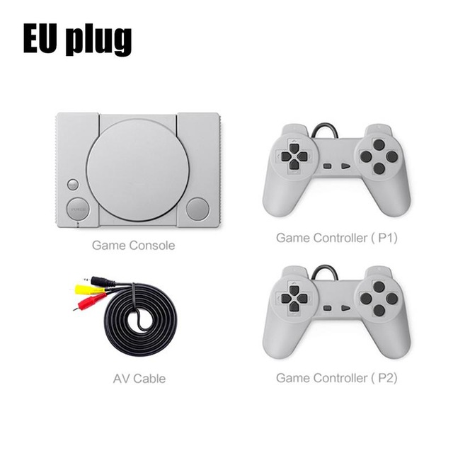 Classic Game Console 8-bit for PS1 Mini Home 620 Action Game Enthusiast Entertainment System Retro Double Battle Game Console EU plug