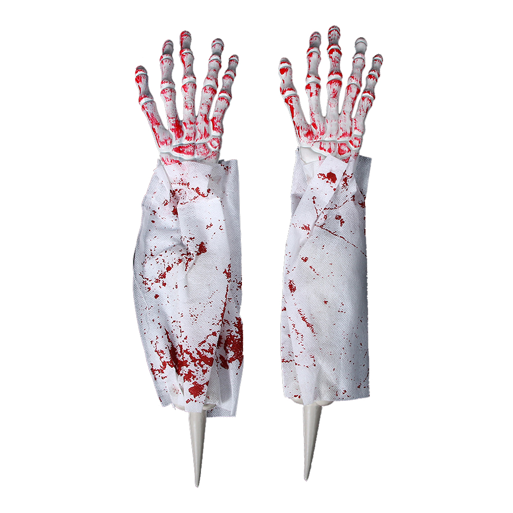 1Pair Simulation Scare Hand Sleeve for Halloween Masquerade Party Scary Toy Props