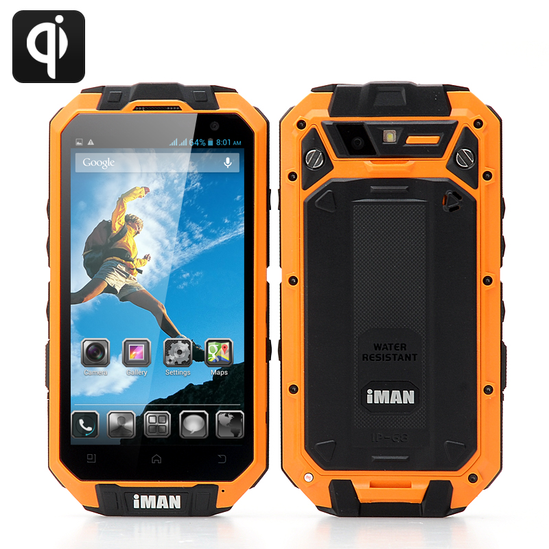 iMAN i3 Charging Rugged Smartphone (Orange)