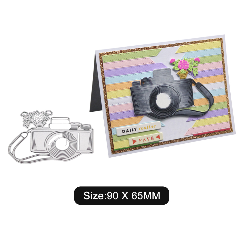 Halloween Camera Pattern Carbon Steel Cutting Dies DIY Scrapbook Background Envelope Invitation Lace Decor 2100152