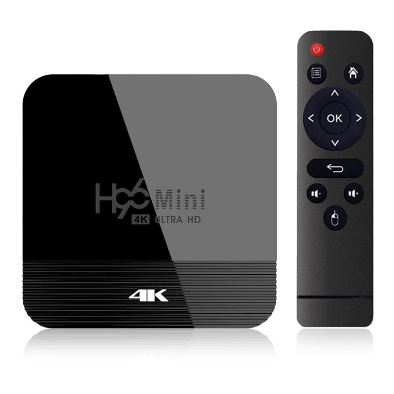 H96 Mini H8 Android 9.0 1+8G/2+16G TV Box RK3228A Quad Core 4K Wifi BT4.0 Set Top Box HDMI 2.0 Video Smart TV Player EU Plug