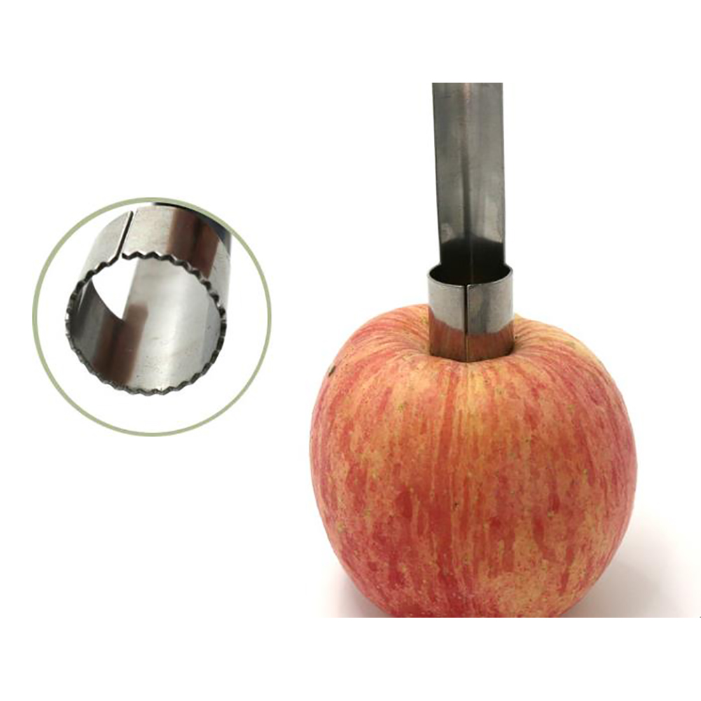 Easy Twist Stainless Steel Fruit Core Seed Remover Kitchen Tool for Apple 1pc