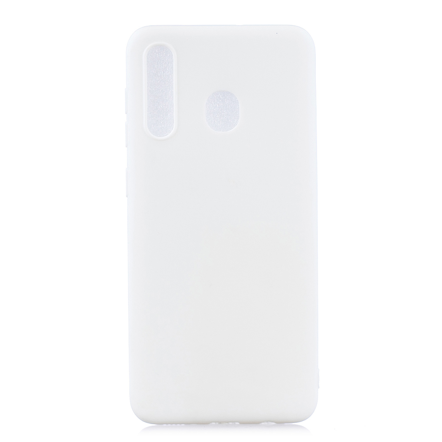 For HUAWEI Y9 2019 Lovely Candy Color Matte TPU Anti-scratch Non-slip Protective Cover Back Case white