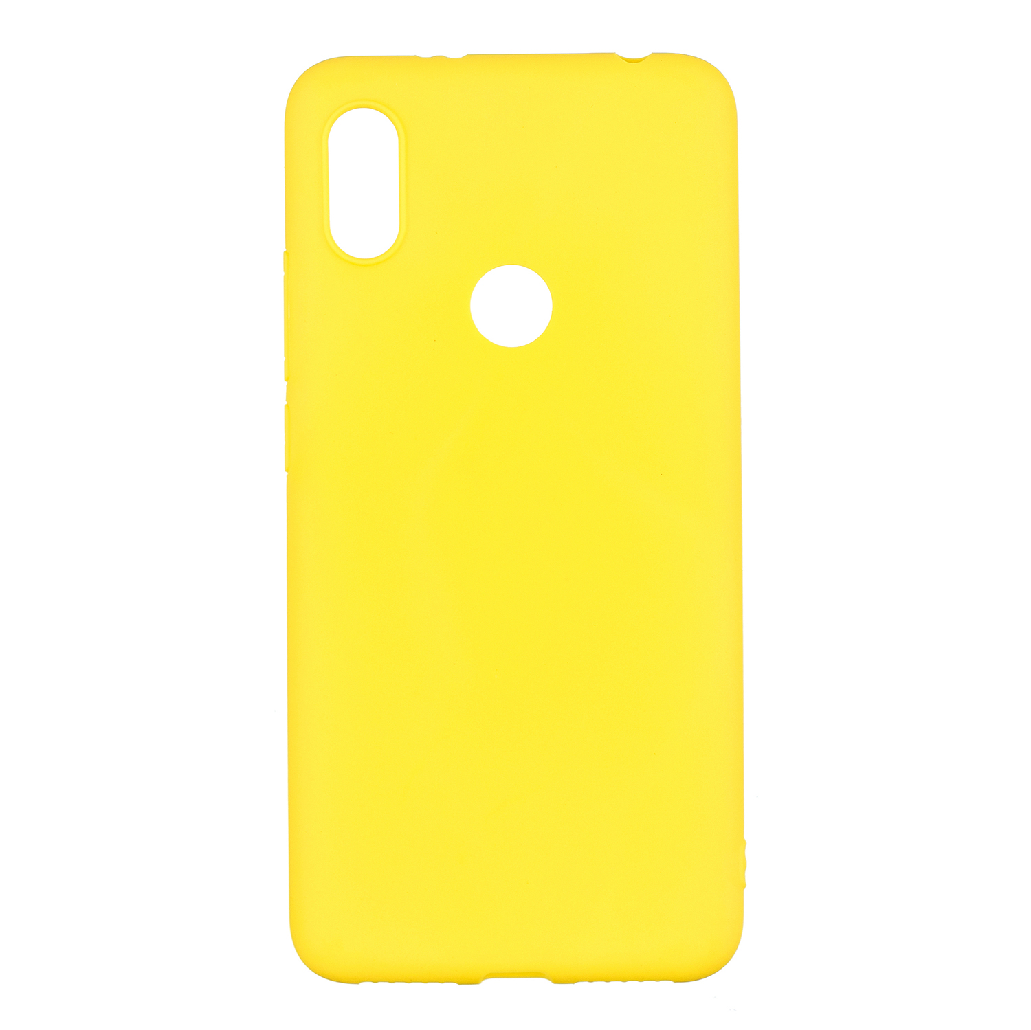For HUAWEI Y6 2019 Lovely Candy Color Matte TPU Anti-scratch Non-slip Protective Cover Back Case yellow