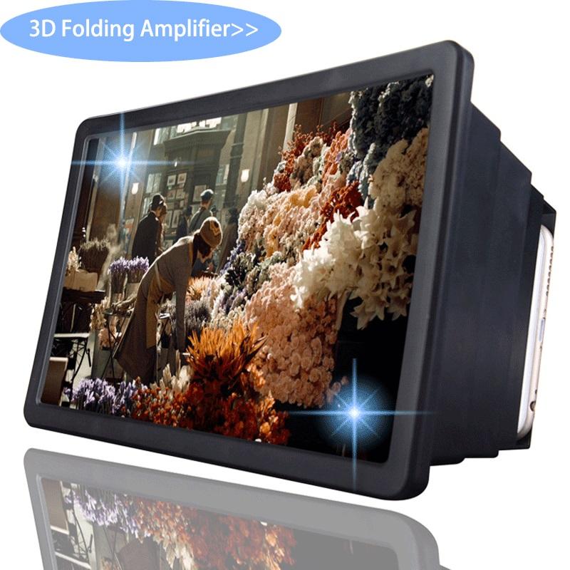 Mobile Phone Screen Magnifier Expander 3D Screen Amplifier For Film Display Screen black