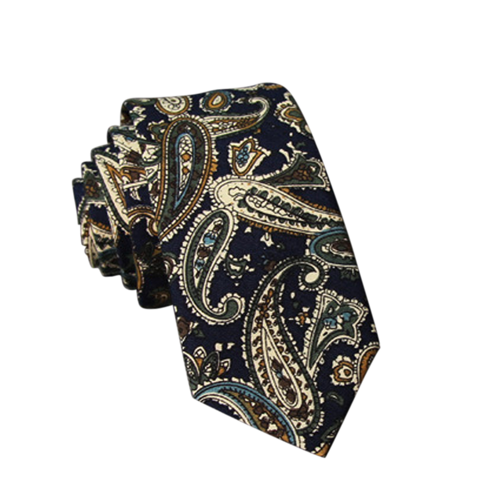 Men's Wedding Tie Floral Cotton Necktie Birthday Gifts for Man Wedding Party Business Cotton printing -018