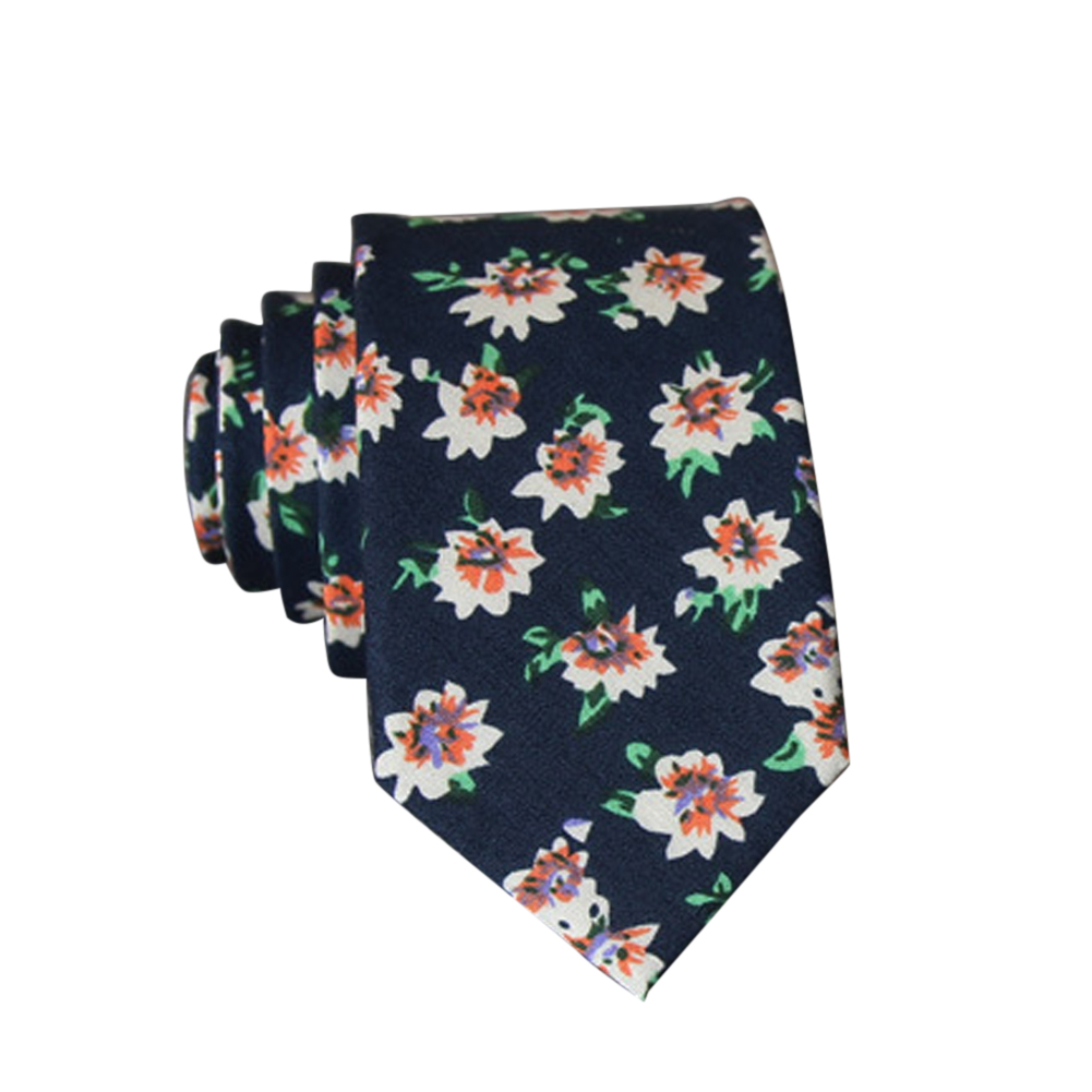 Men's Wedding Tie Floral Cotton Necktie Birthday Gifts for Man Wedding Party Business Cotton printing -024