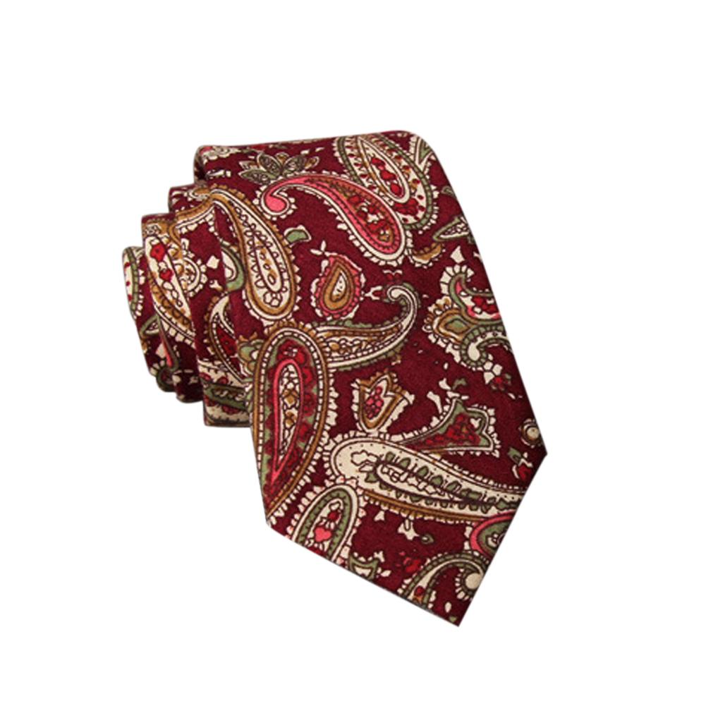Men's Wedding Tie Floral Cotton Necktie Birthday Gifts for Man Wedding Party Business Cotton printing-019