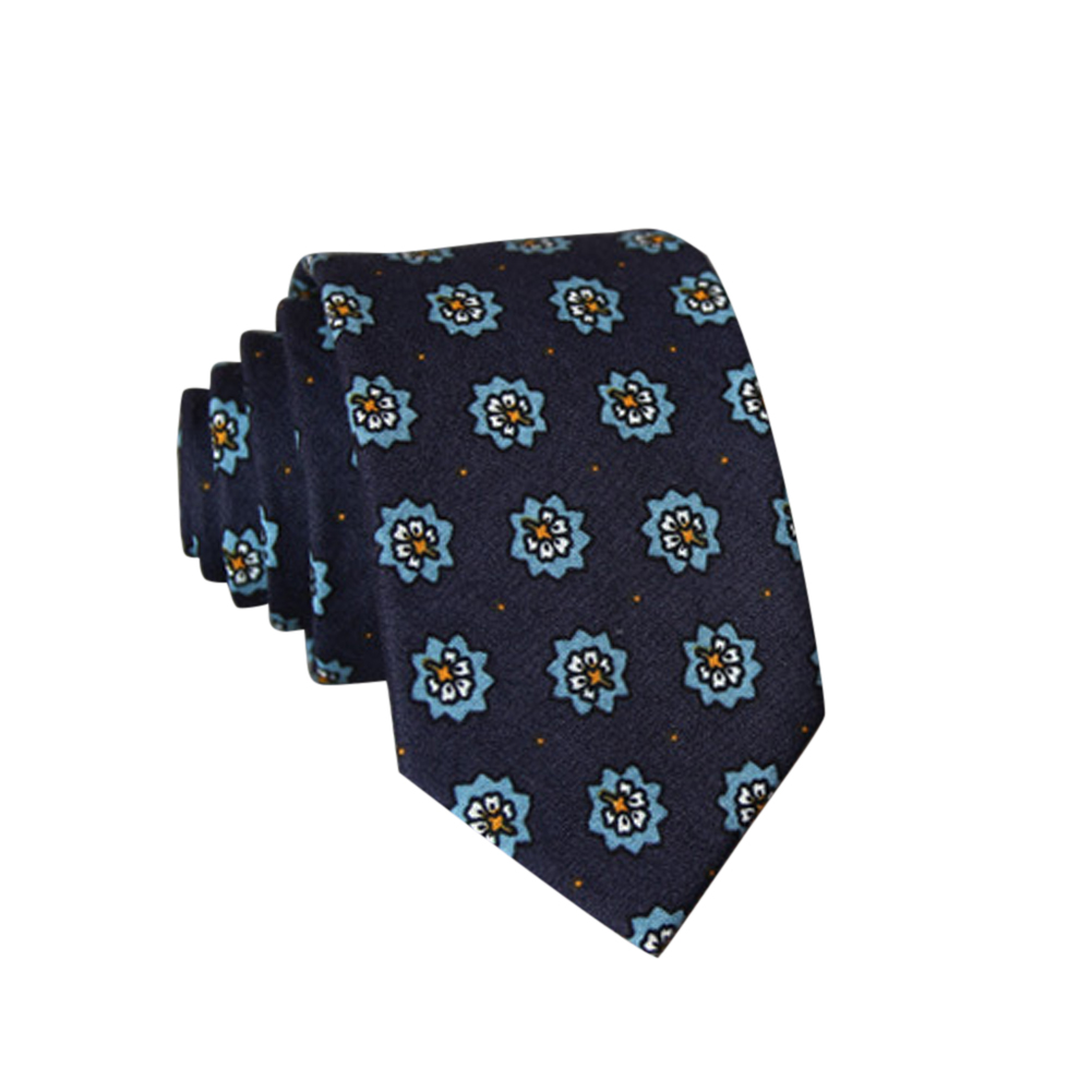 Men's Wedding Tie Floral Cotton Necktie Birthday Gifts for Man Wedding Party Business Cotton printing-022