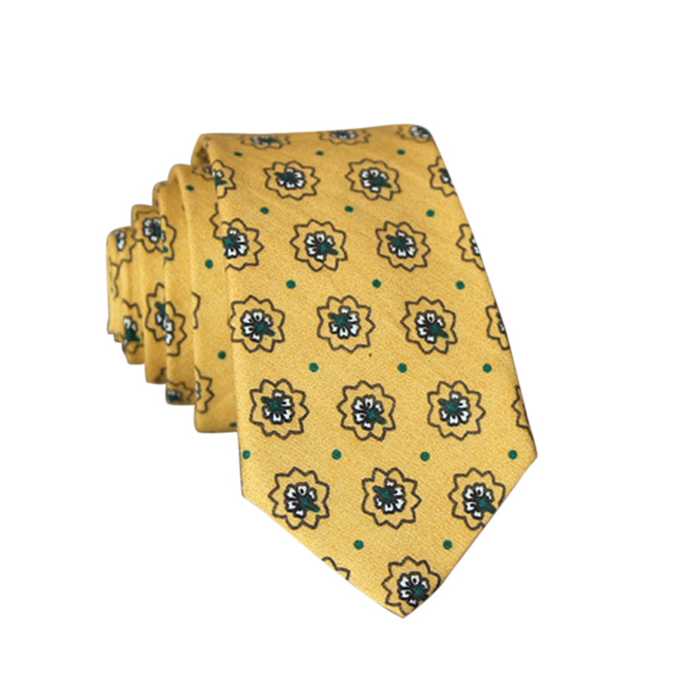 Men's Wedding Tie Floral Cotton Necktie Birthday Gifts for Man Wedding Party Business Cotton printing -021