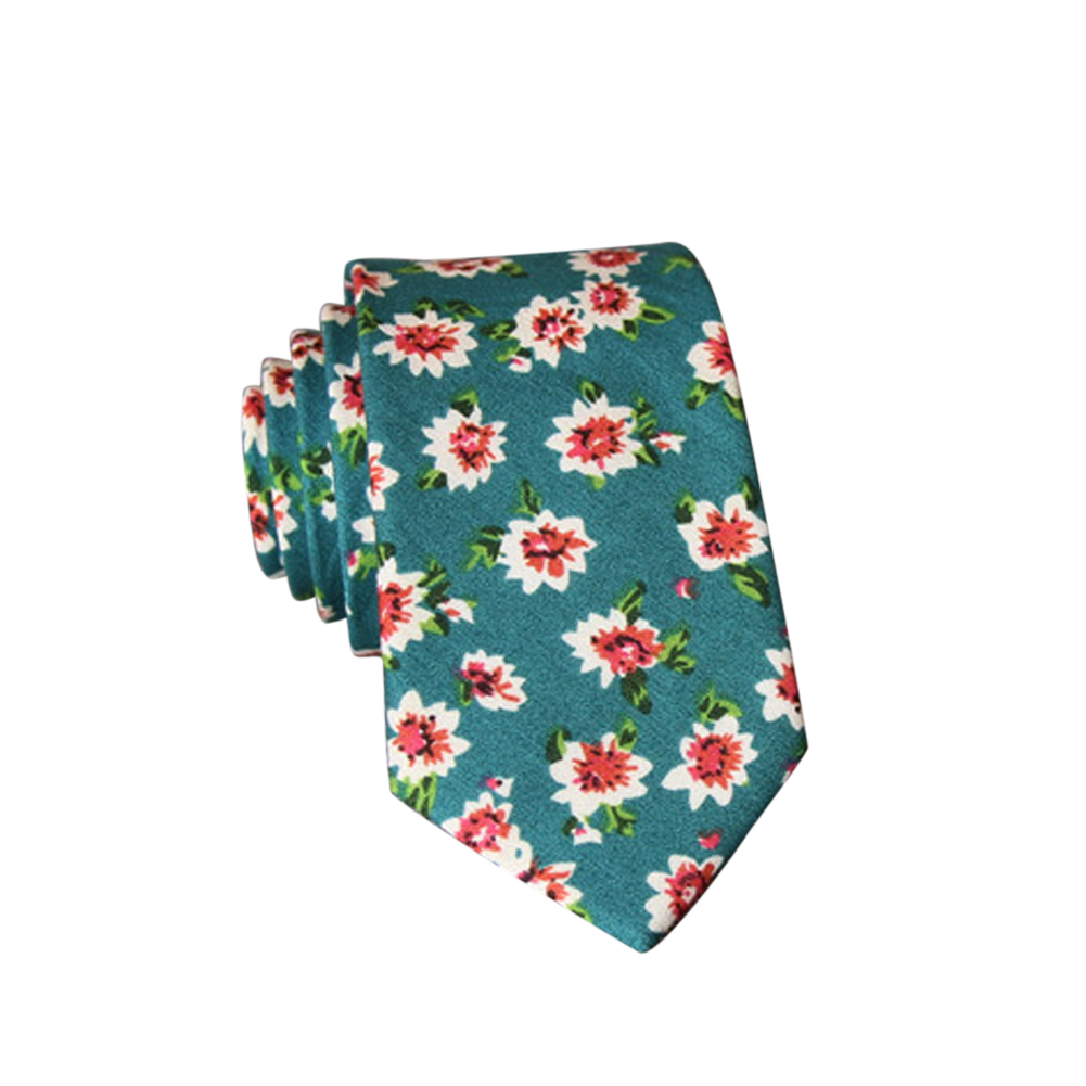 Men's Wedding Tie Floral Cotton Necktie Birthday Gifts for Man Wedding Party Business Cotton printing -023