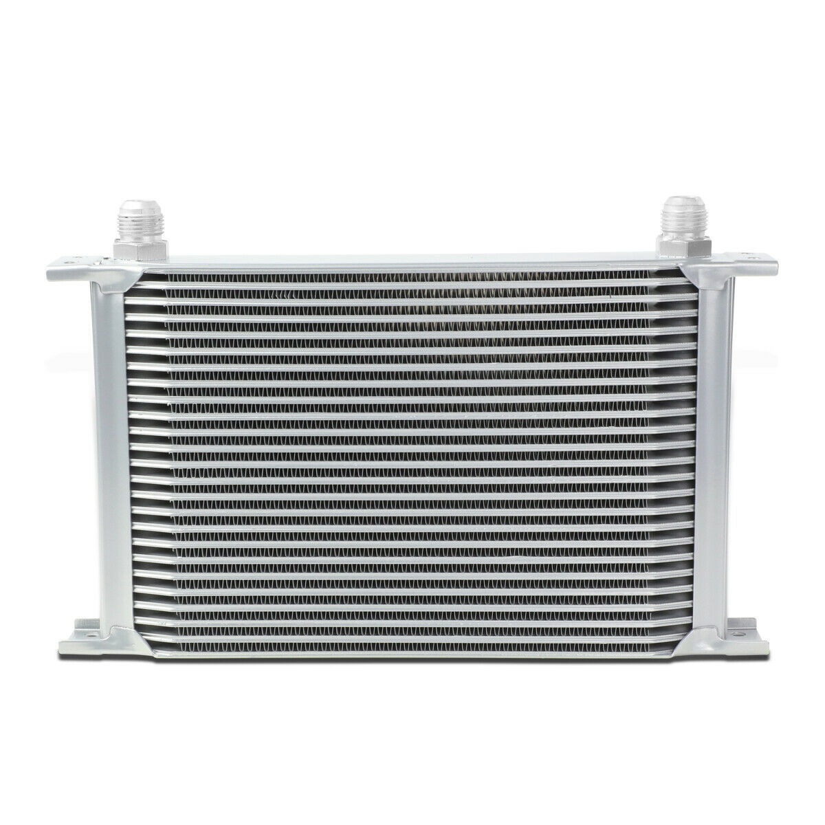 Universal Aluminum Pro Racing Engine Oil Cooler 25 Row 10an Powder Coated Silver Oil Cooler