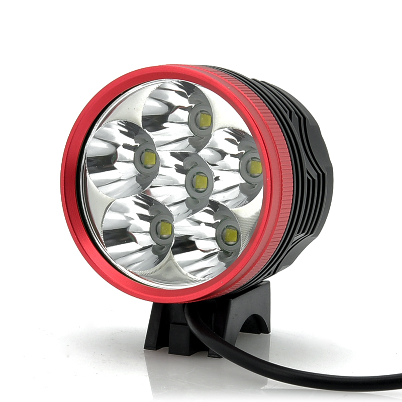 6x Cree XM-L T6 LED Bicycle Lamp + Headlight
