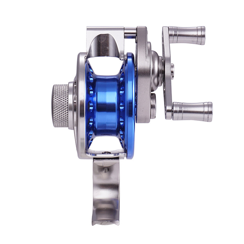 Front Wheel Tall Super Light All Metal Ice Fishing Reel with Diacharge Force Double Fishing Reel Long wheel front wheel 5CM left hand