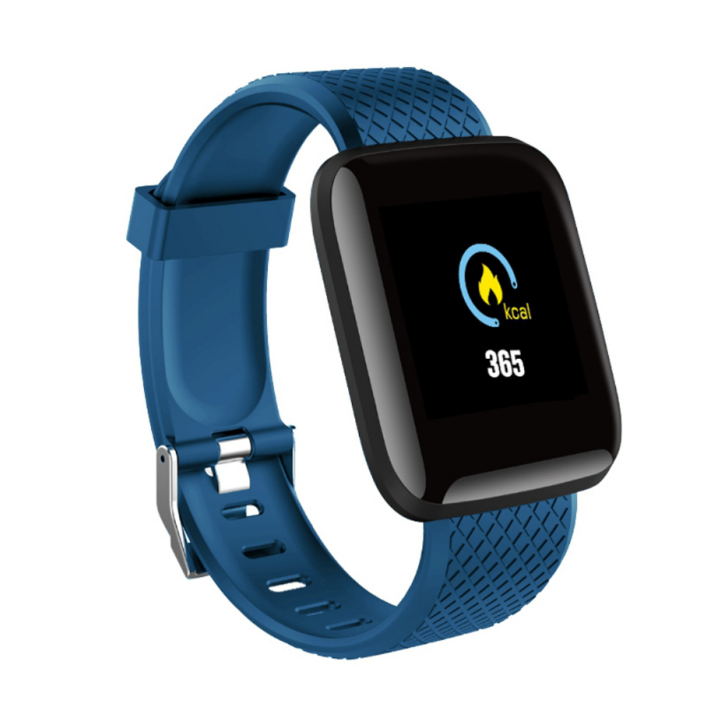 1.3inch Smart Bracelet Fitness Tracker Heart Rate Blood Pressure Monitor Smart Band IP67 Waterproof Sports For Android iPhone blue