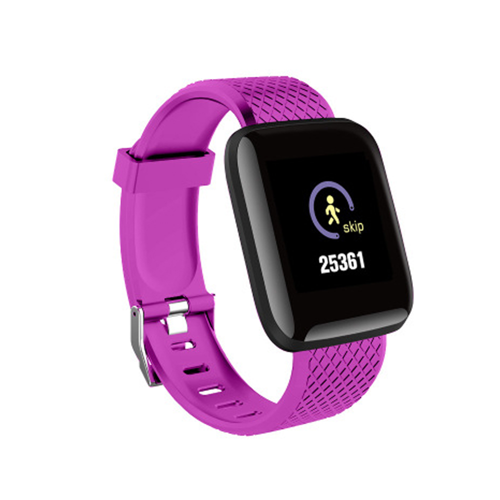 1.3inch Smart Bracelet Fitness Tracker Heart Rate Blood Pressure Monitor Smart Band IP67 Waterproof Sports For Android iPhone purple