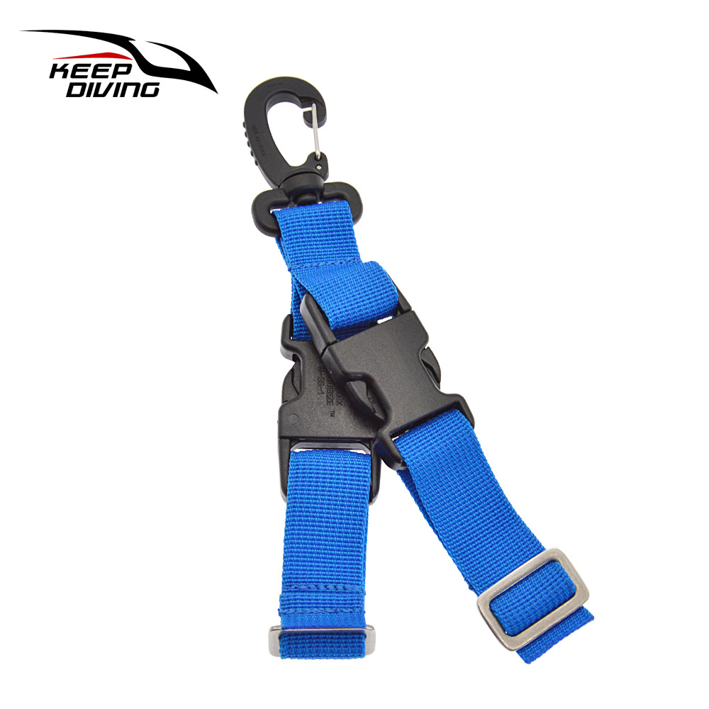 Diving Fins Quick-release Buckle Fins Rope Dive Gear Quick Release Buckle blue_One size