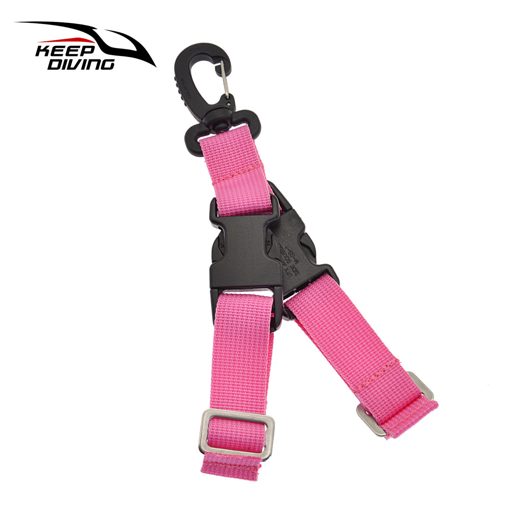 Diving Fins Quick-release Buckle Fins Rope Dive Gear Quick Release Buckle Pink_One size