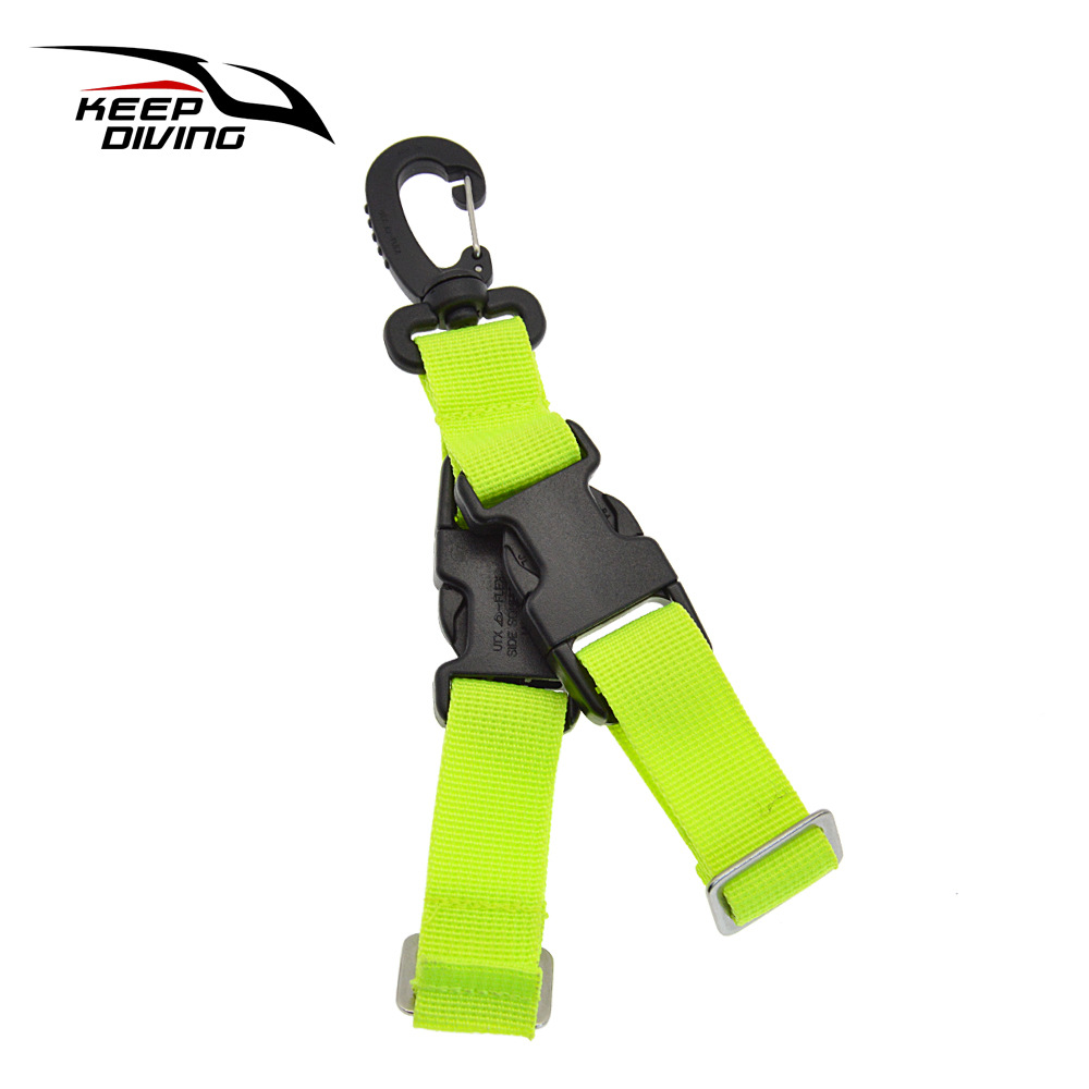 Diving Fins Quick-release Buckle Fins Rope Dive Gear Quick Release Buckle Fluorescent green_One size