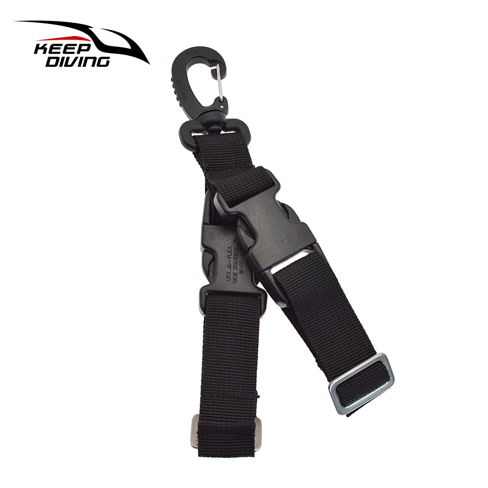 Diving Fins Quick-release Buckle Fins Rope Dive Gear Quick Release Buckle black_One size