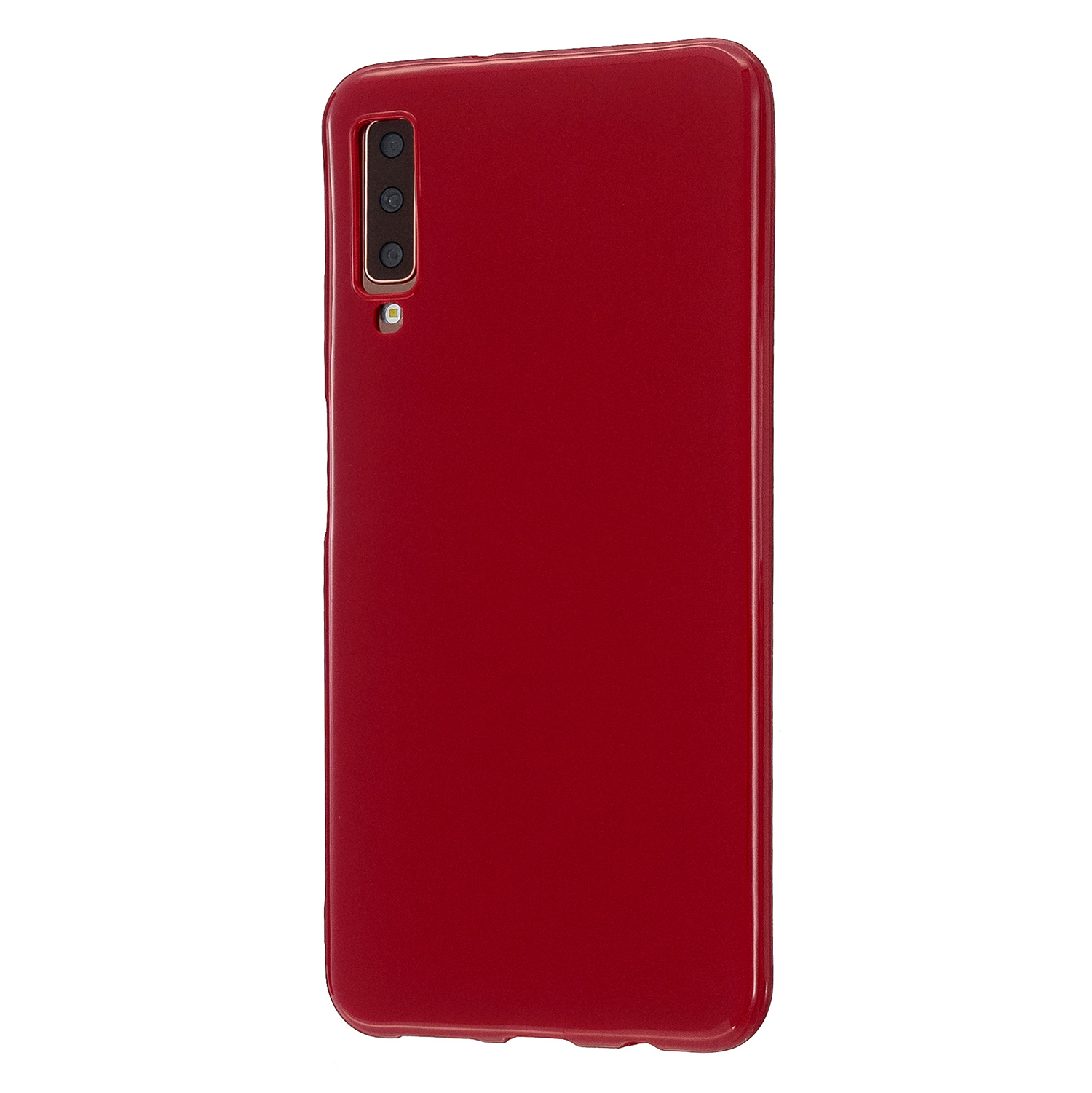 For Samsung A7 2018/A920 Smartphone Case Soft TPU Precise Cutouts Anti-slip Overal Protection Cellphone Cover  Rose red