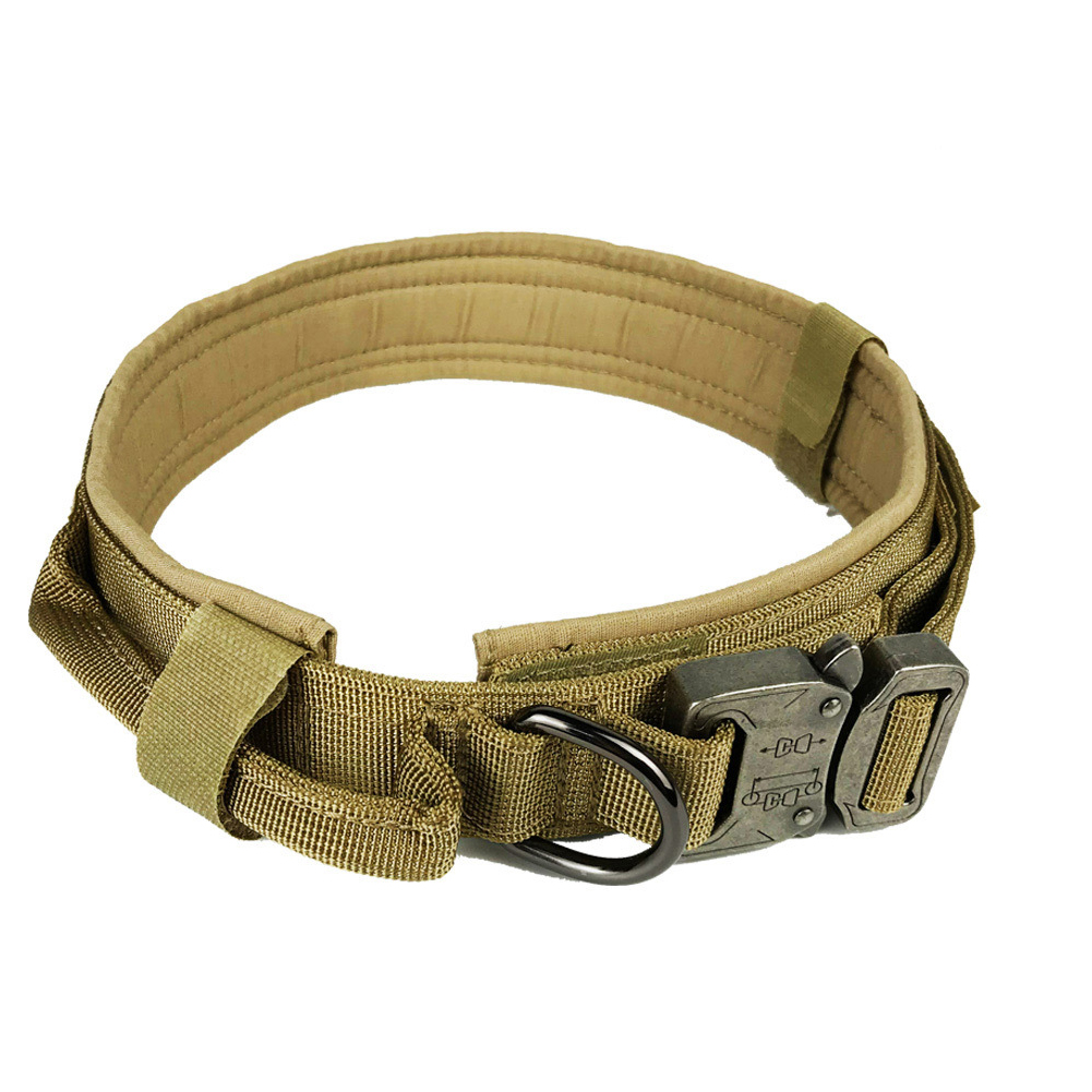 Pet Collar Adjustable Thicken Leash Control D Ring Training Collar for Small Large Dogs brown_M